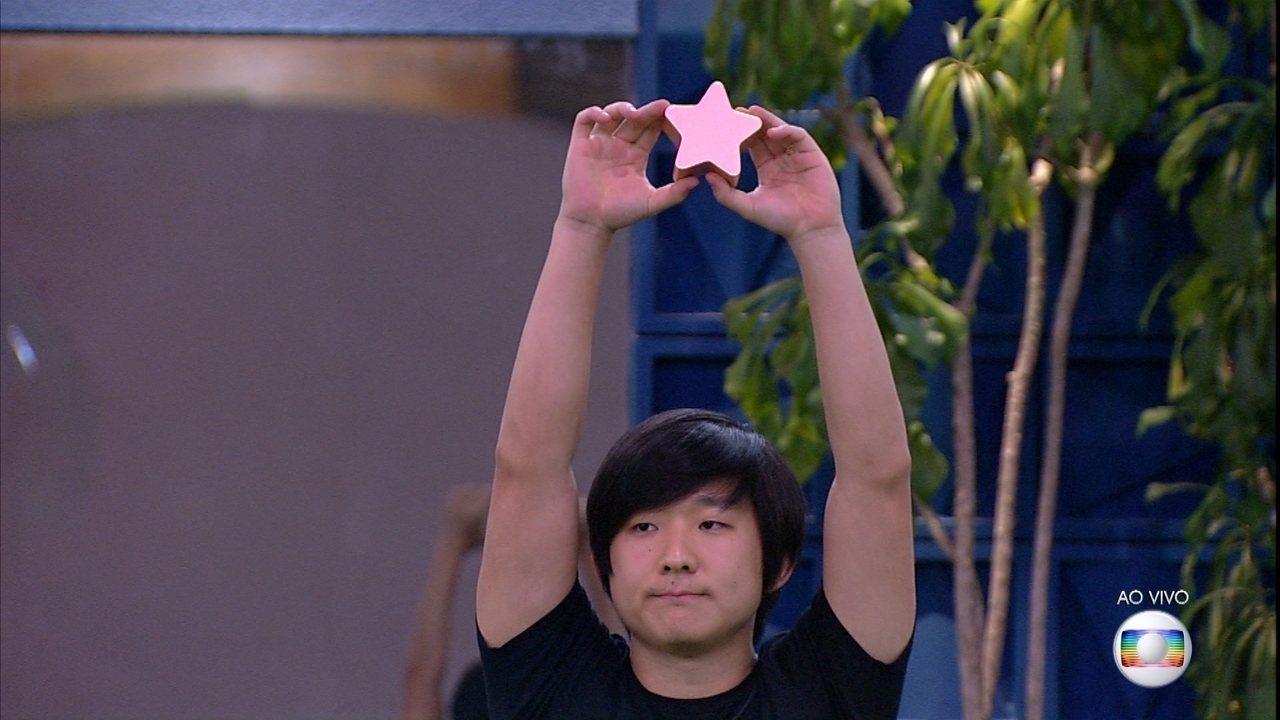 Pyong vence a prova Bate e Volta e se salva do Paredão