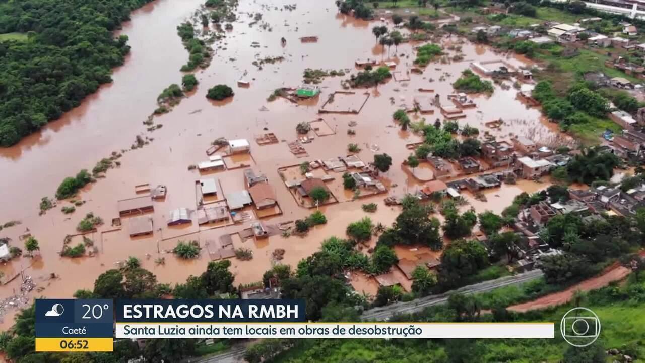 Santa Luzia é uma das cidades mineiras em situação de emergência após chuvas na Grande BH