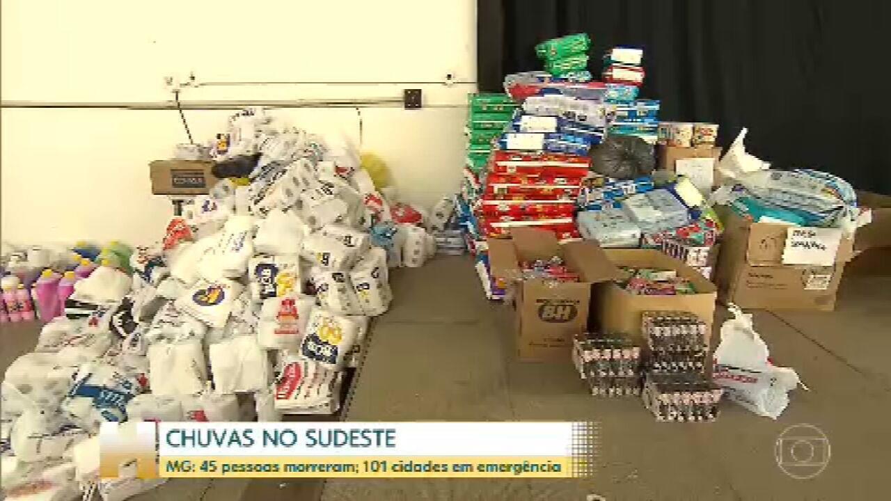 Solidariedade: Desabrigados precisam de itens como alimentos e roupas de cama