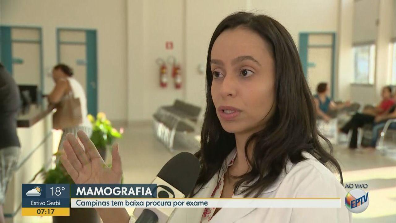 Campinas registra baixa procura por exames de mamografia