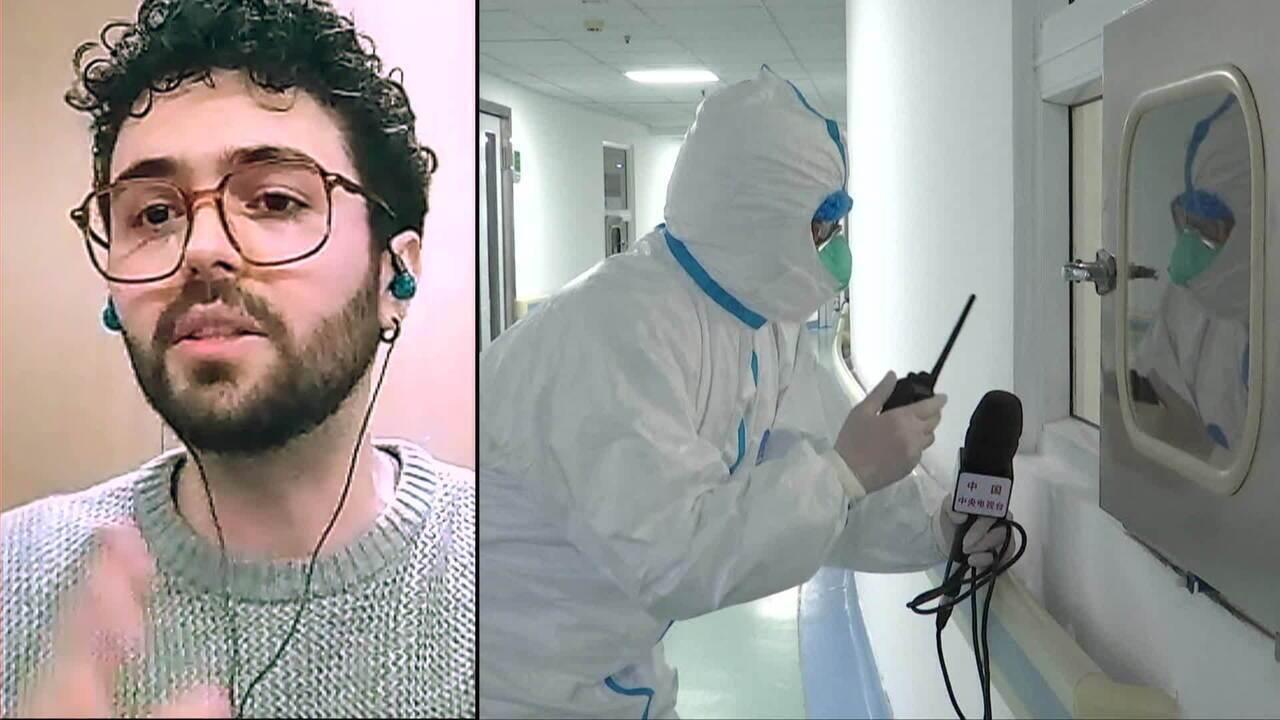 Brasileiro morador de Wuhan comenta cotidiano em meio ao surto de coronavírus