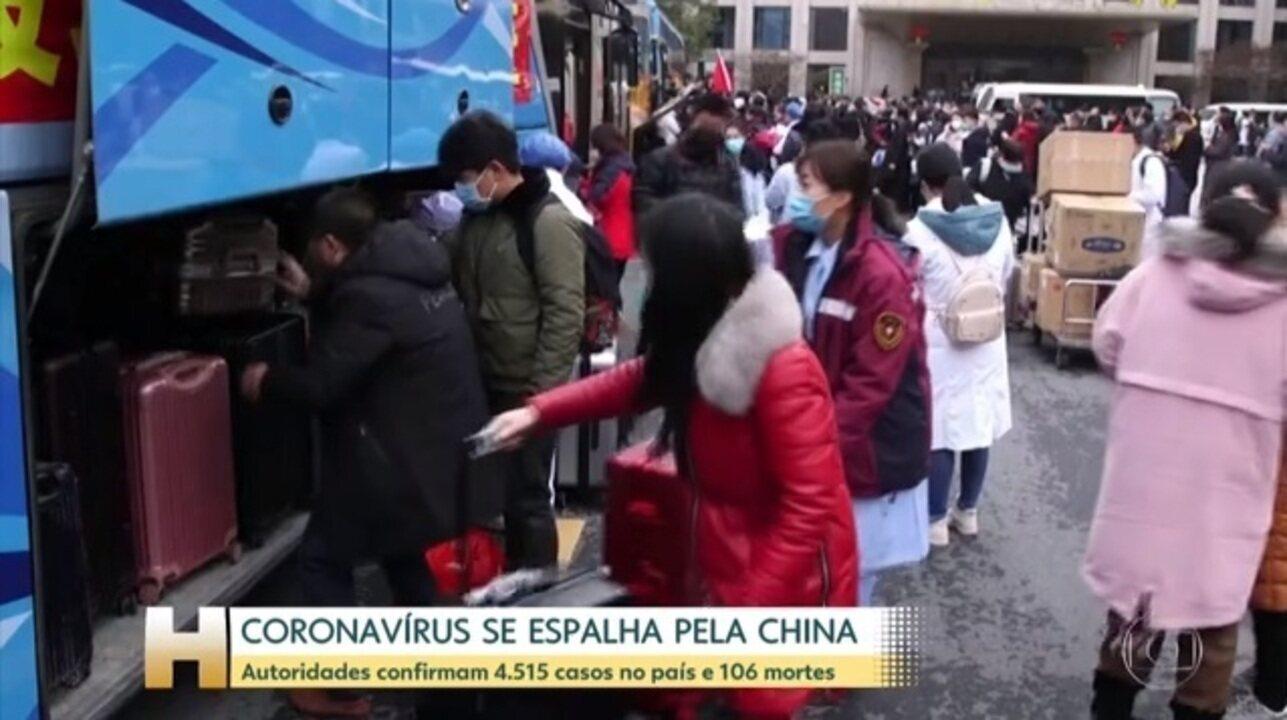 Autoridades confirmam 4.515 casos de novo coronavírus na China e 106 mortes