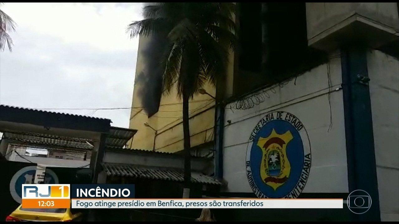Fogo atinge presídio em Benfica