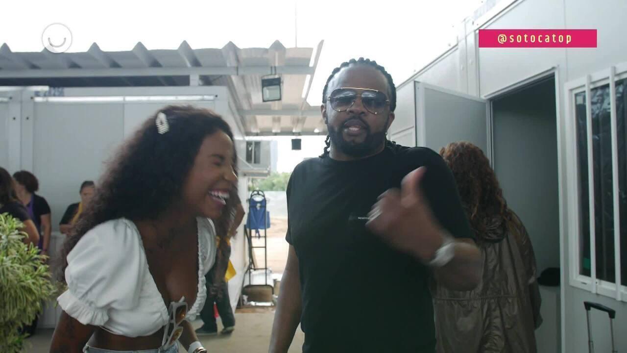 Luane Dias conversa com Xande de Pilares nos bastidores do 'SóTocaTop Verão'