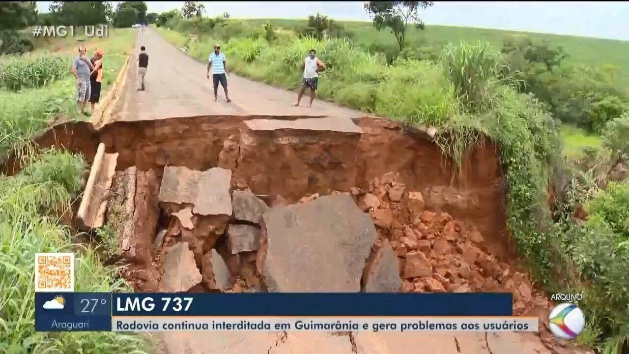 Prefeito de Cruzeiro da Fortaleza relata transtornos causados por cratera na LMG-737