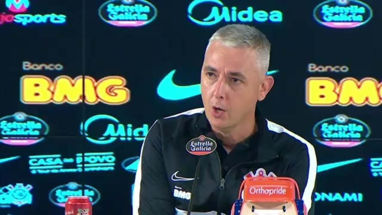Corinthians 2 x 1 Santos: assista à entrevista de Tiago Nunes