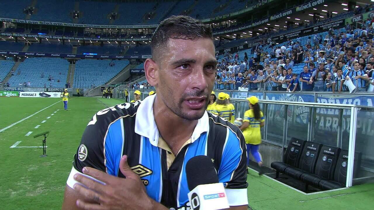 Diego Souza fala sobre a reestreia com gol contra o Esportivo