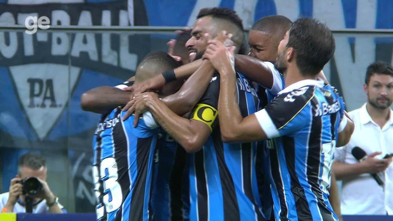 Confira os melhores momentos entre Grêmio 5 x 0 Esportivo