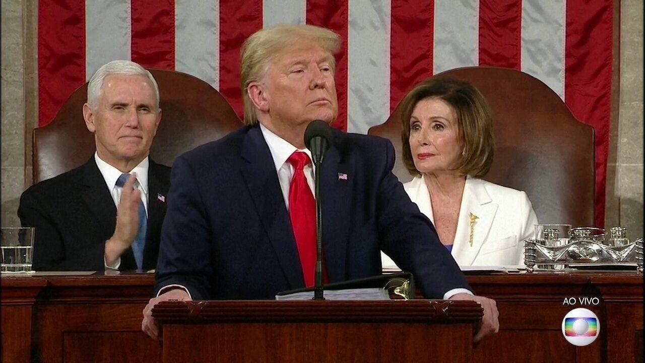 Donald Trump faz o tradicional Discurso Anual do Estado da União sobre o futuro do país