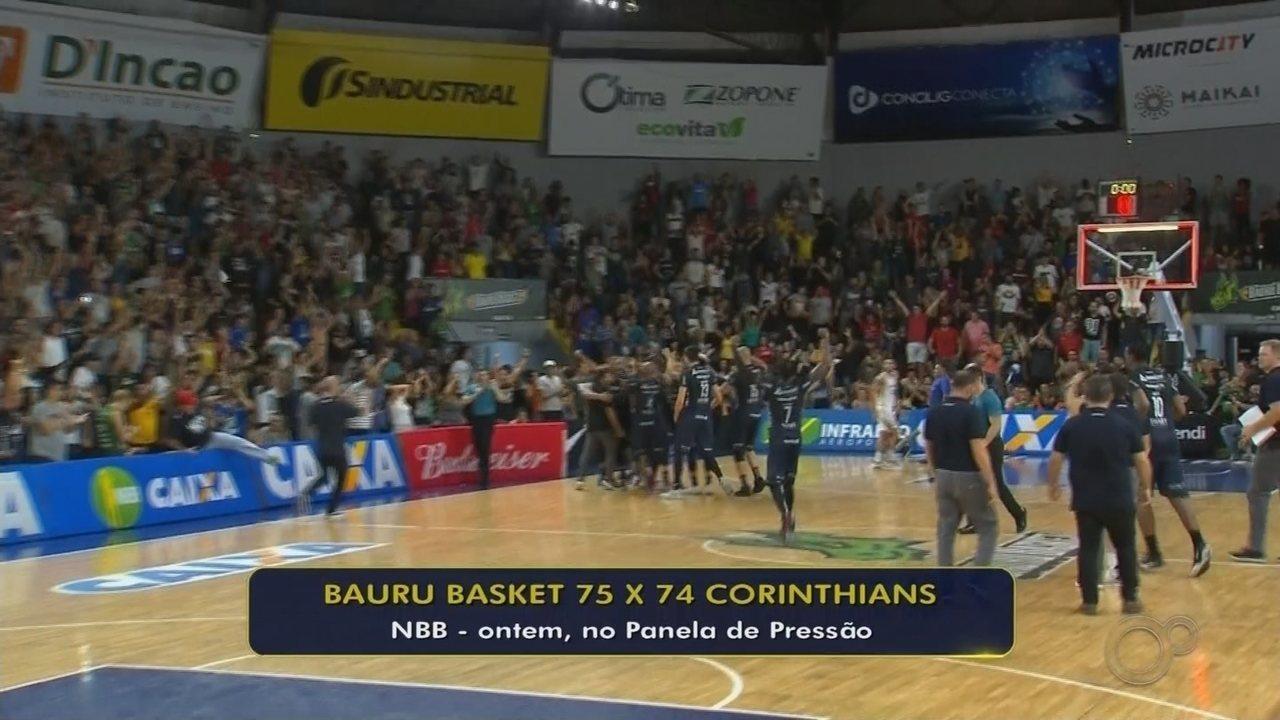 Veja como foi a vitória do Bauru Basket sobre o Corinthians pelo NBB, no ginásio Panela de Pressão