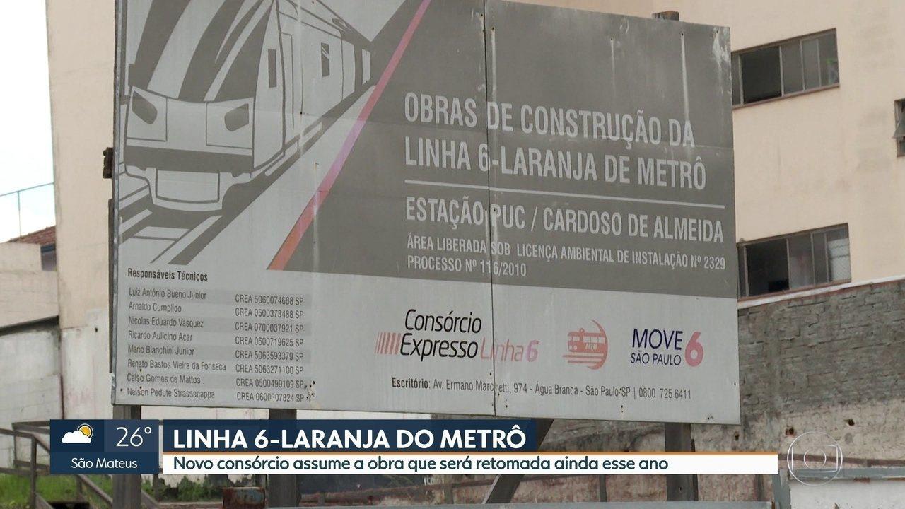 Novo consórcio assume obras da Linha 6-Laranja do Metrô