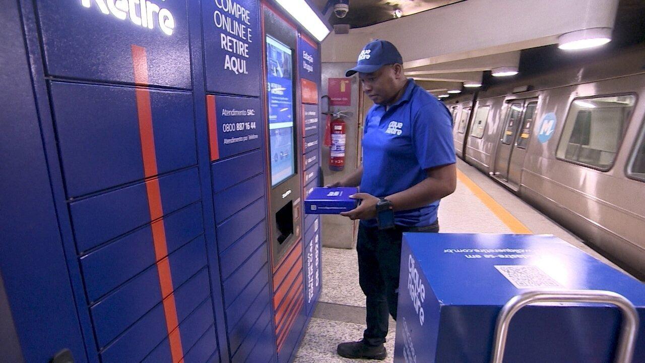 Armários em estações de metrô recebem entregas de quem mora em áreas violentas