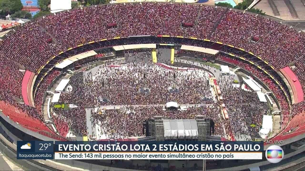 Evento cristão lota dois estádios da capital neste sábado