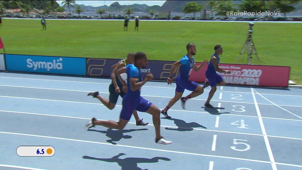 Michael Rodgers vence a prova dos 60m do Raia Rápida