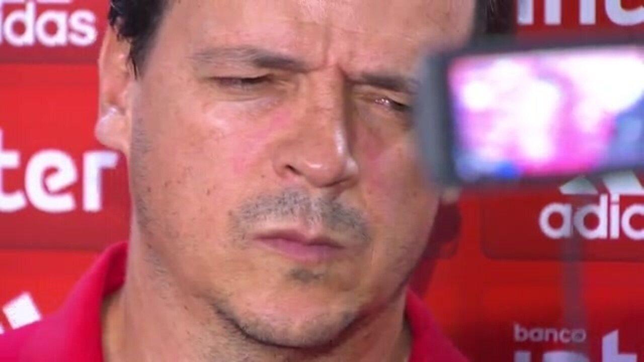 Veja a entrevista do técnico Fernando Diniz, do São Paulo, após derrota para o Santo André