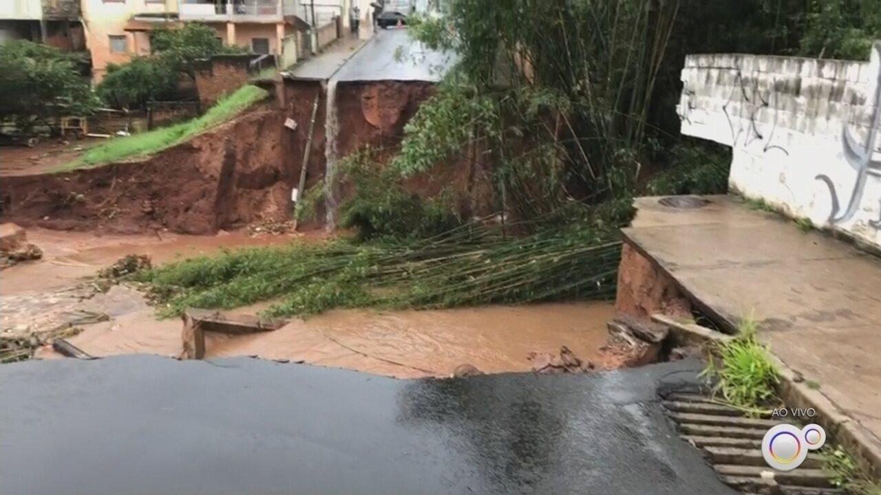 Tempestade desabriga famílias, interdita rodovia e alaga ruas em Botucatu