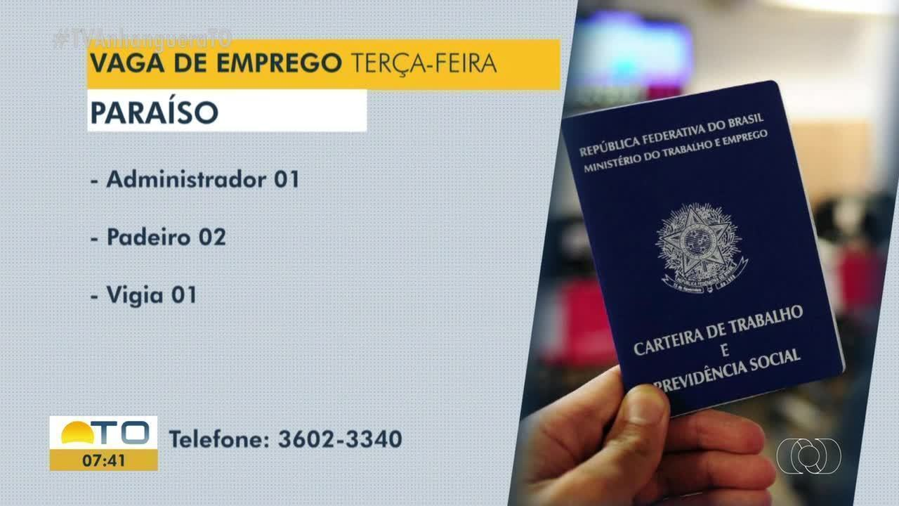 Confira as vagas de emprego disponíveis em Paraíso, Taquaralto e Araguaína