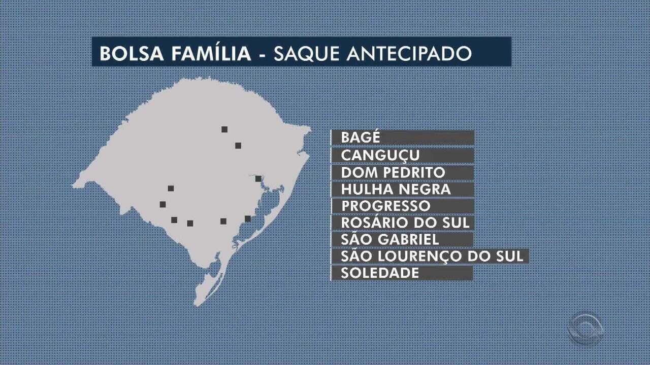 Beneficiários do Bolsa Família de nove cidades do RS poderão adiantar saque de fevereiro