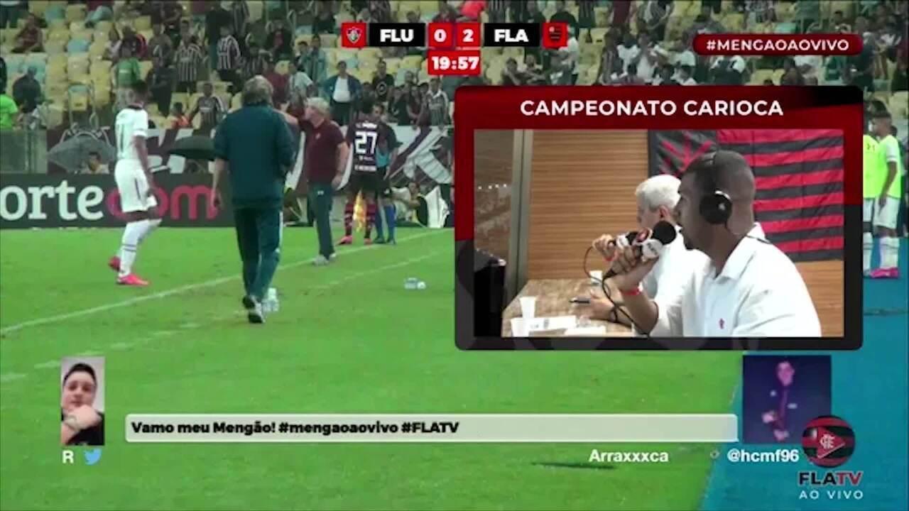Confira a polêmica envolvendo os narradores da Fla TV no jogo entre Flamengo e Fluminense
