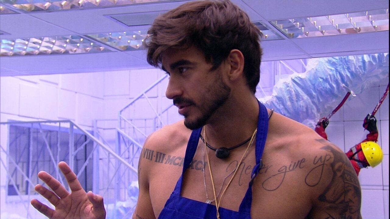 Guilherme sobre Paredão: 'Não posso colocar um dos meninos'