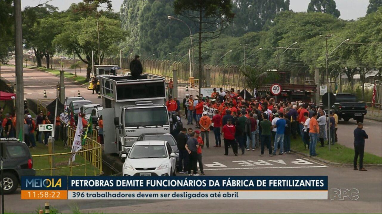 Petrobras começa a demitir funcionários de fábrica de fertilizantes de Araucária