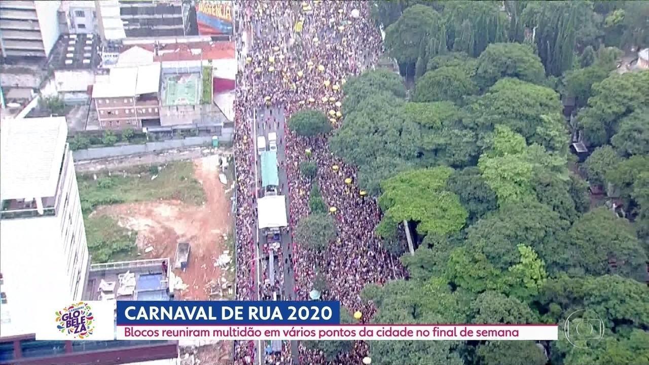 Mais de 210 blocos desfilaram pelas ruas de SP neste fim de semana
