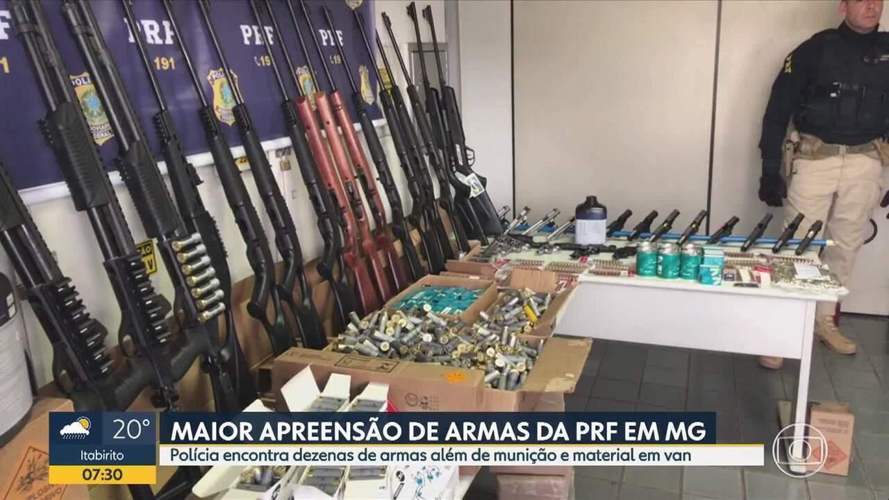 PRF faz na Grande BH a maior apreensão de armas e munição em Minas Gerais