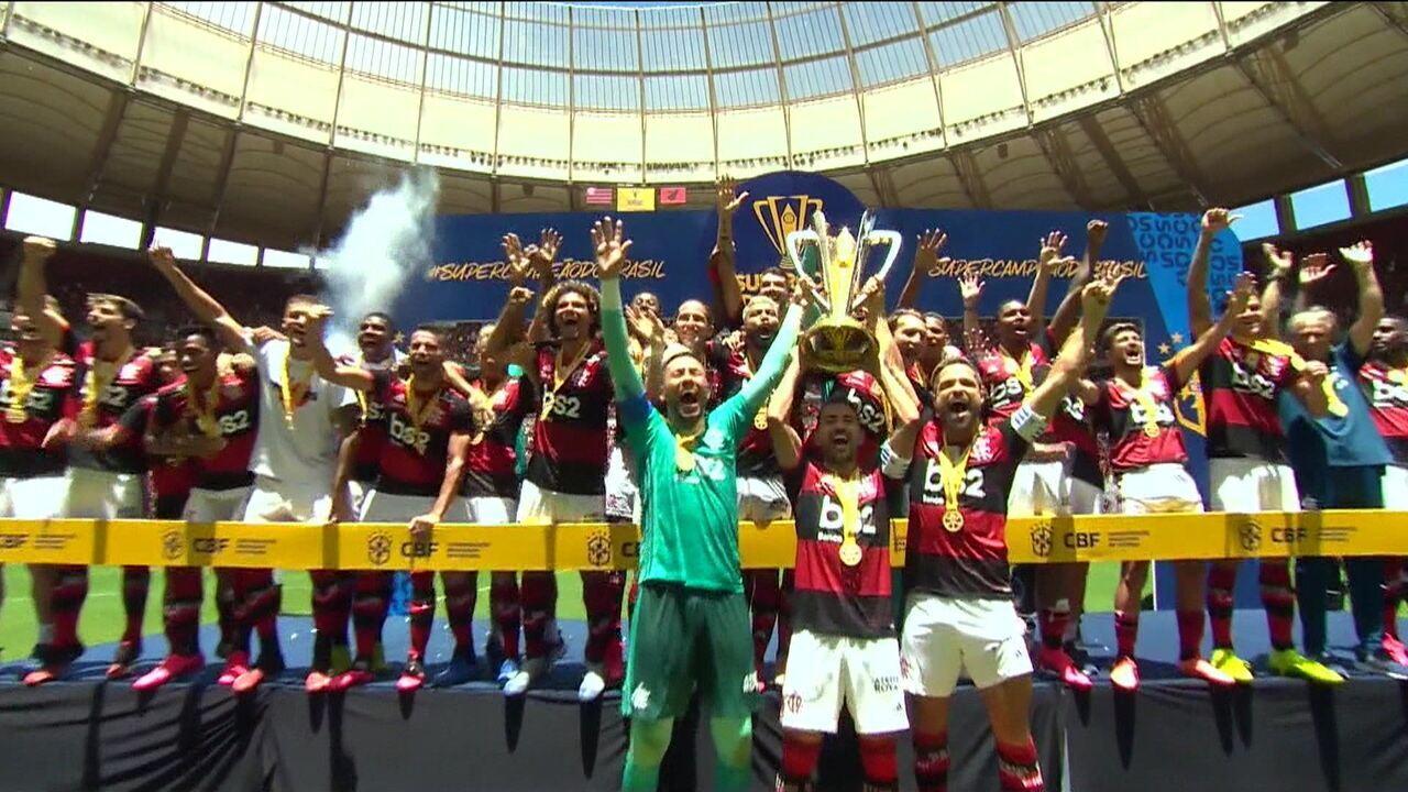 Flamengo bate o Athletico-PR e fica com o título da Supercopa do Brasil