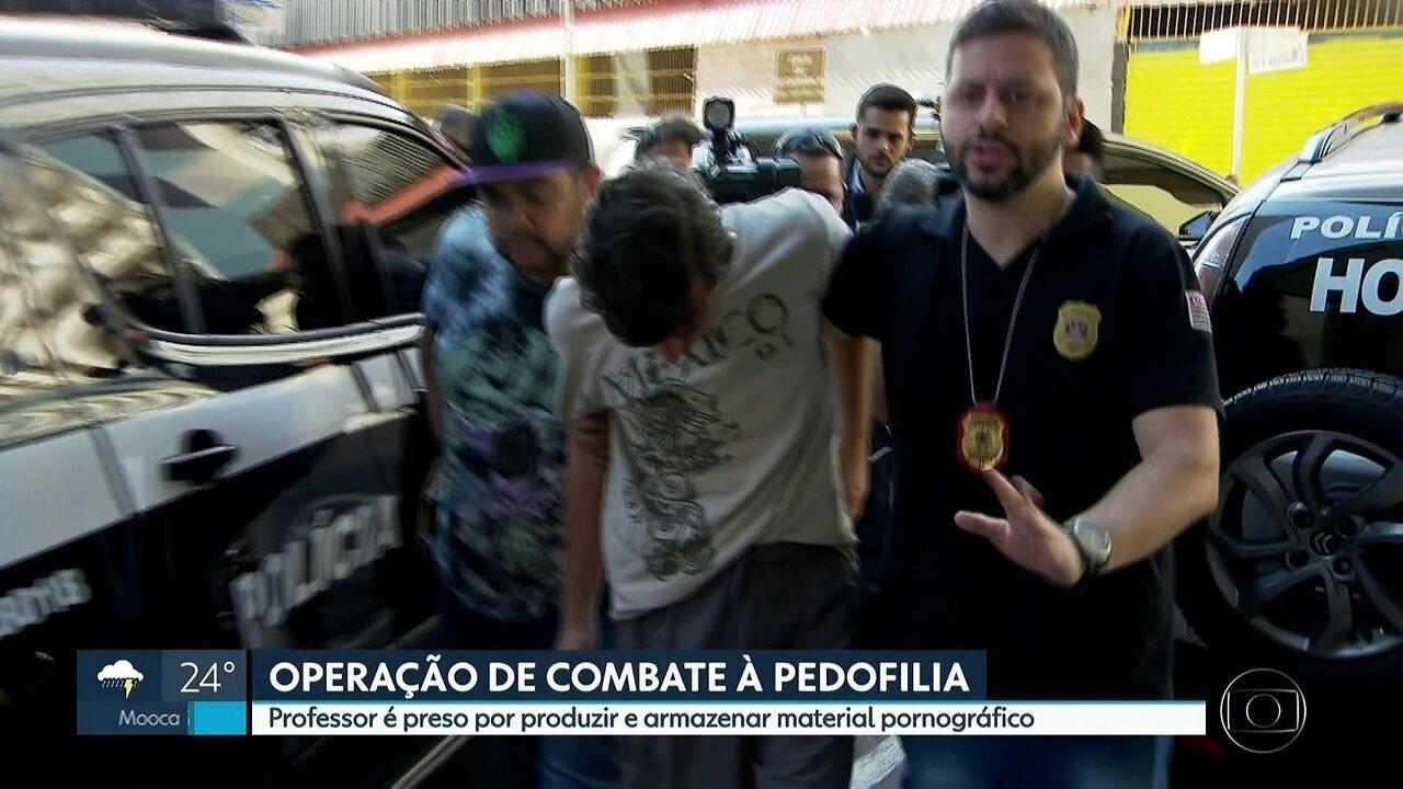 Professor de escola particular é preso durante operação de combate à pedofilia