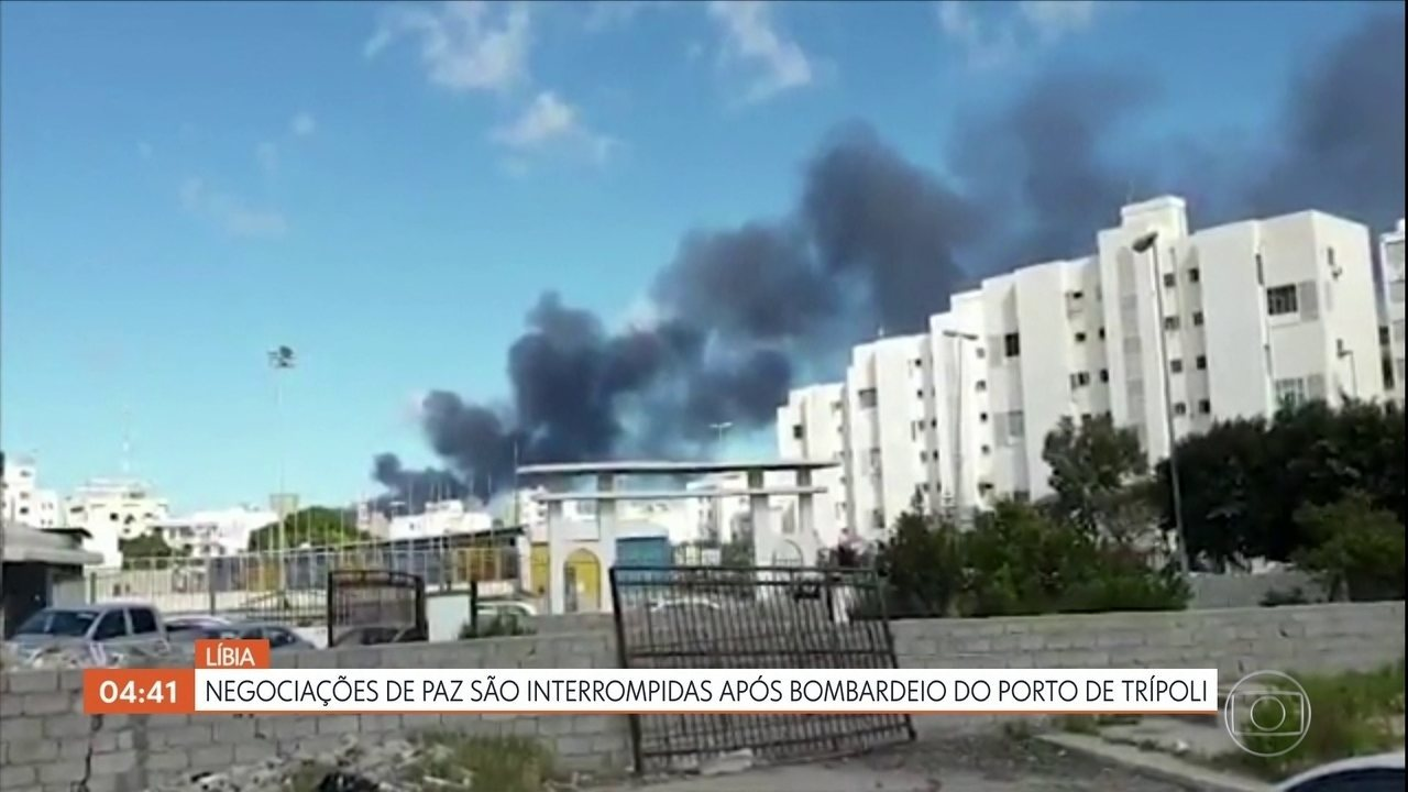 Negociações de paz são interrompidas após bombardeio do porto de Trípoli