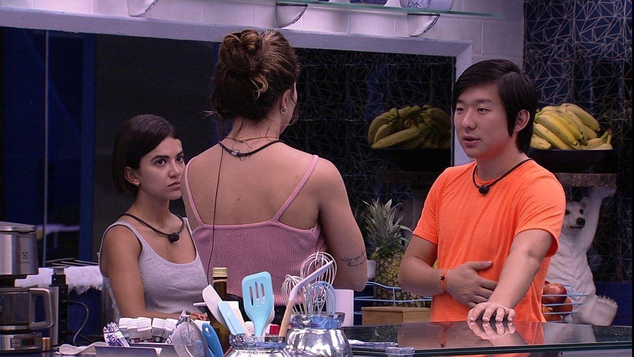 Rafa para Pyong: 'Você falou para o Felipe que a casa ia colocar o Guilherme'
