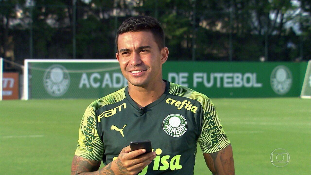 Lembre reportagem com Dudu nos 300 jogos do atacante pelo Palmeiras