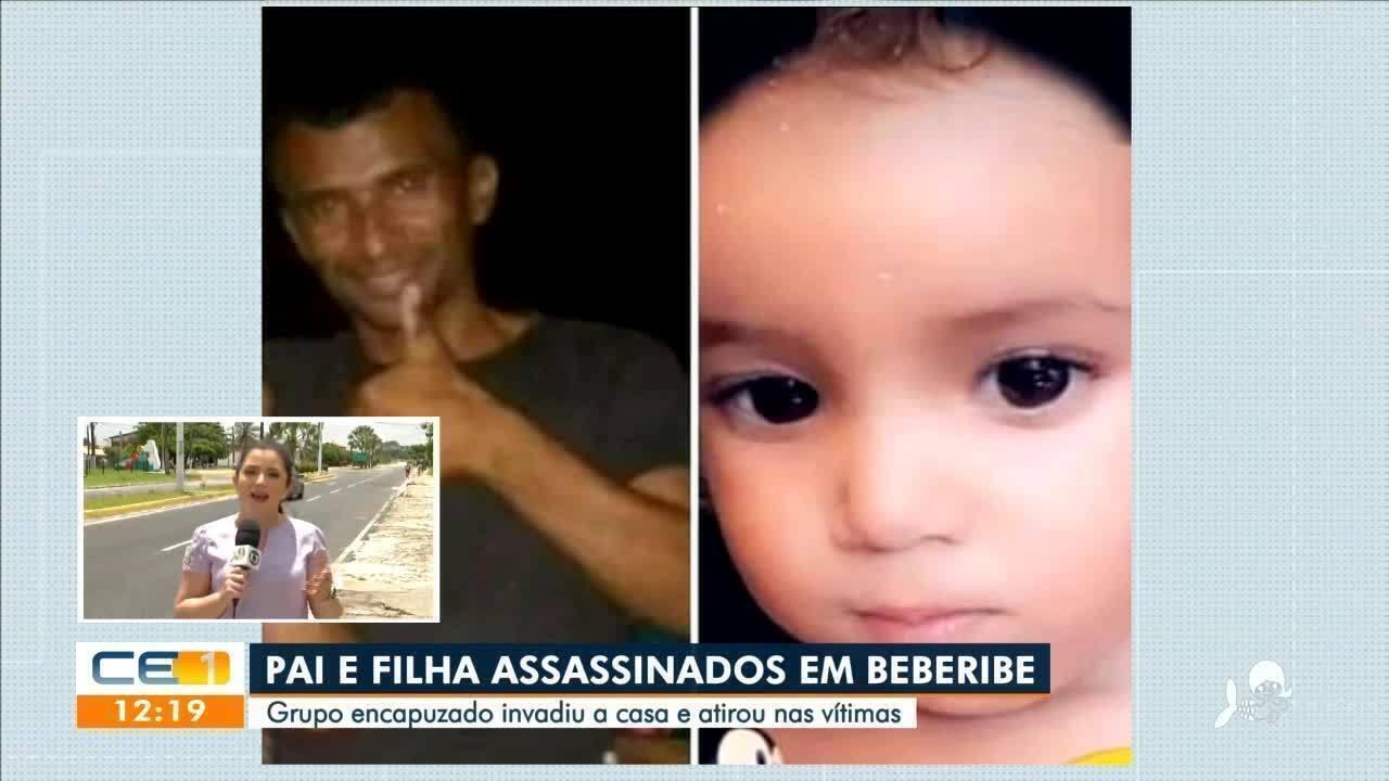 Pai e filha são mortos em Beberibe por grupo encapuzado