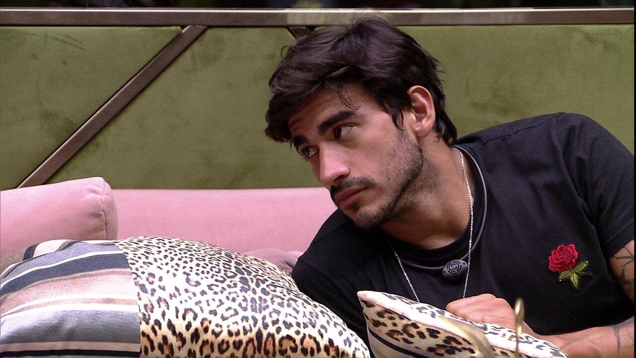 Guilherme fala sobre brother: 'Está parecendo babá do Daniel'