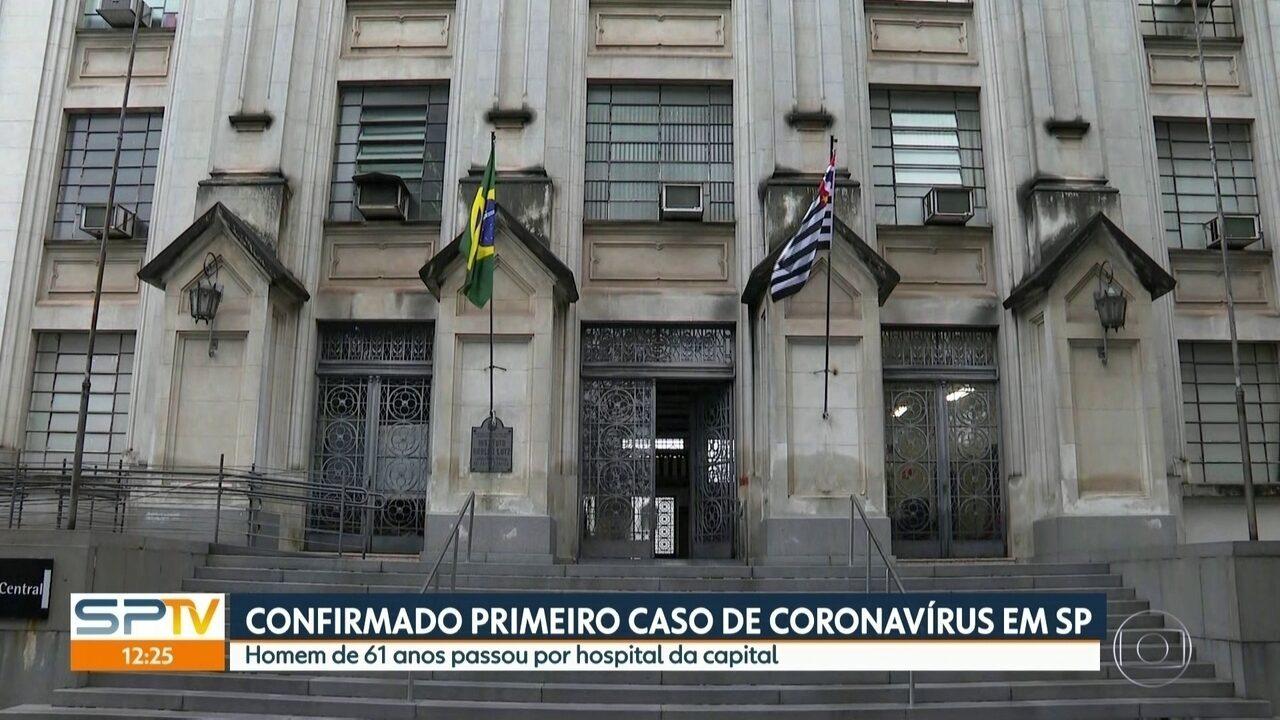 Ministério da Saúde confirma primeiro caso de coronavírus em São Paulo