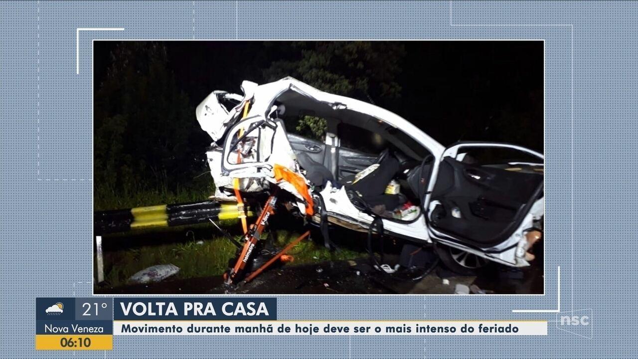 Acidente provoca morte de jovens na Serra de SC