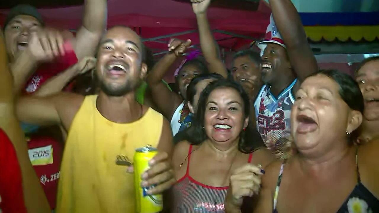 Festa na quadra da Viradouro comemora título