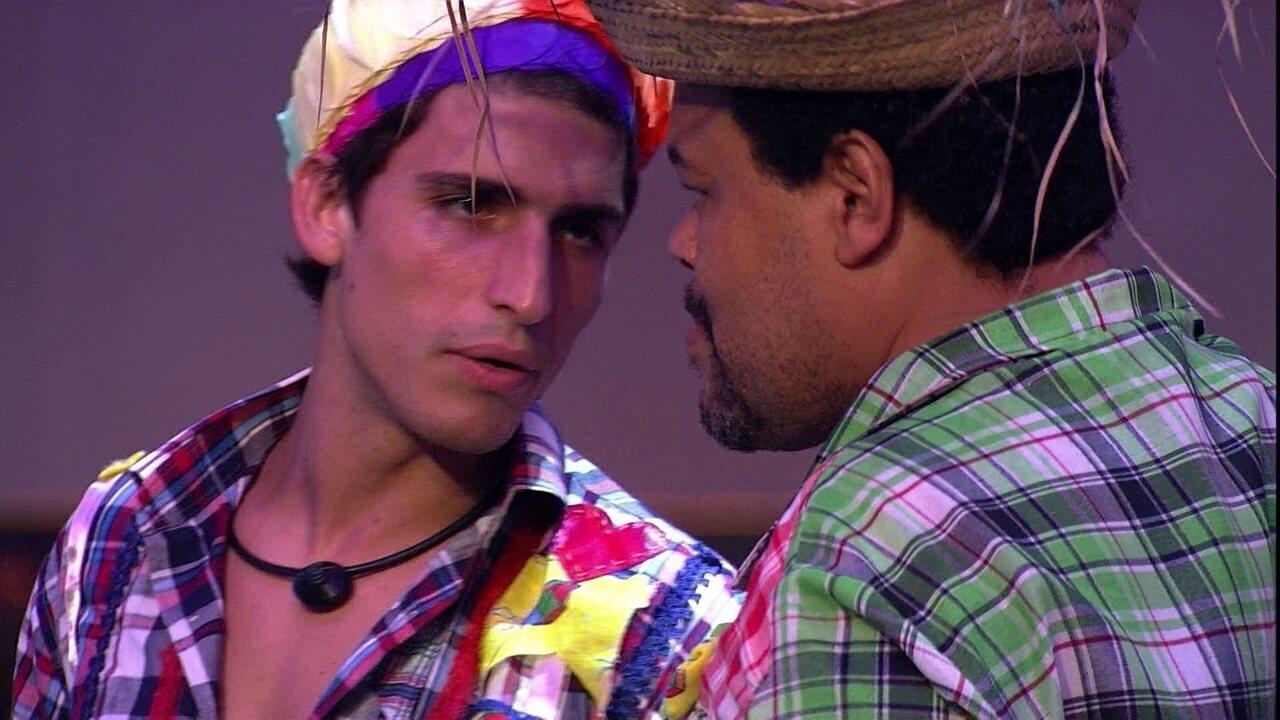Felipe sobre Guilherme: 'Ele está com medo de ir pro Paredão'