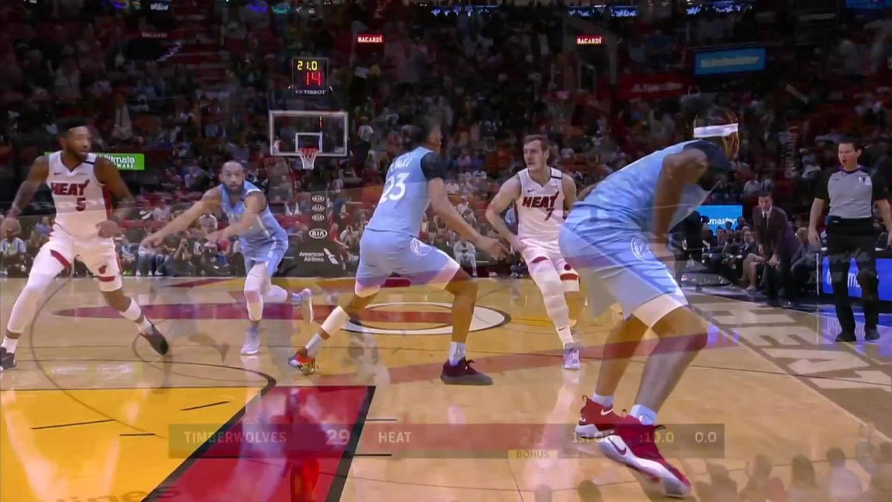Melhores momentos de Miami Heat 126 x 129 Minnesota Timberwolves pela NBA