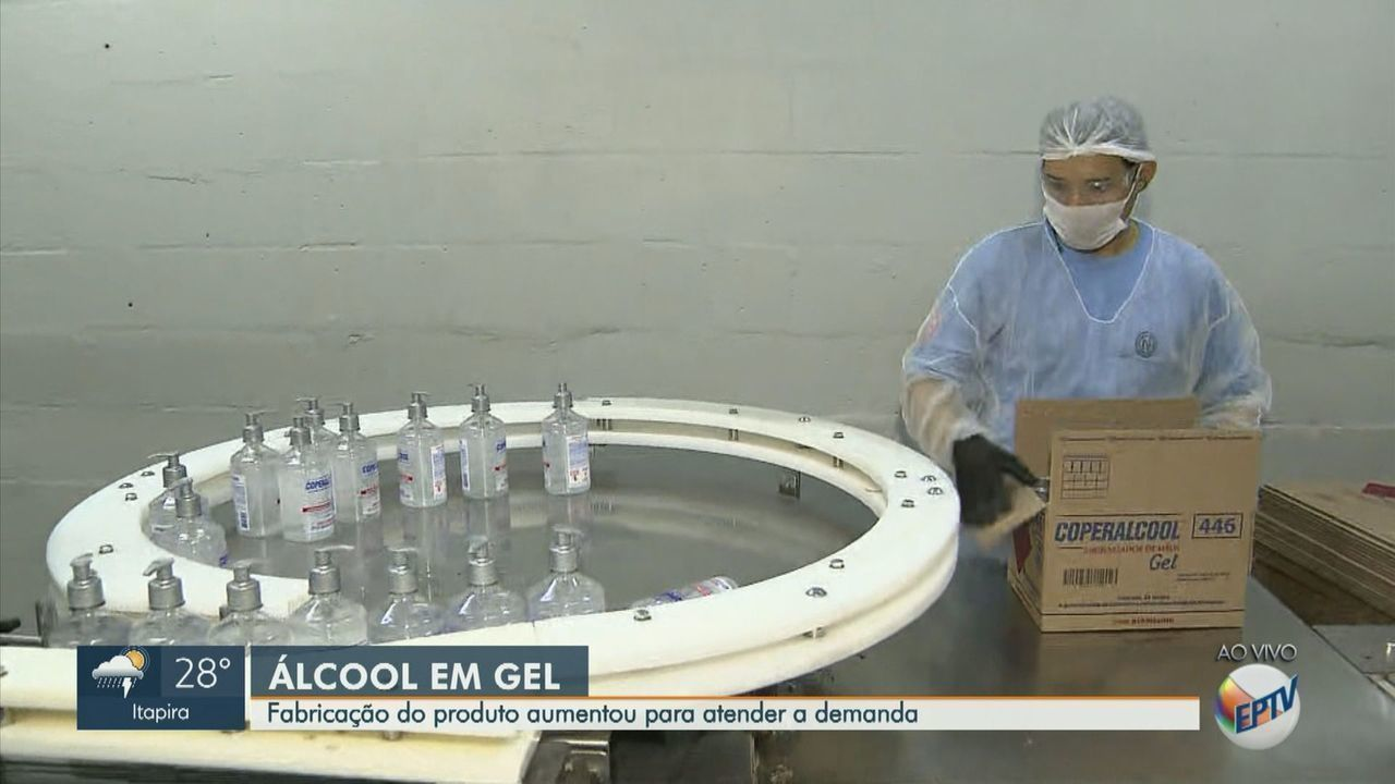 Fabricação de álcool em gel aumenta para atender a demanda