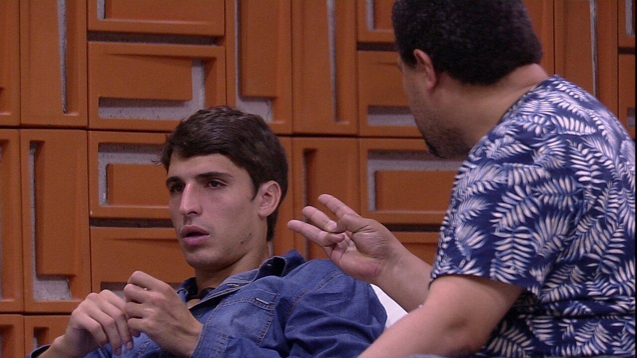 Felipe responde a Babu sobre estratégia de jogo: 'Então não somos nós dois'
