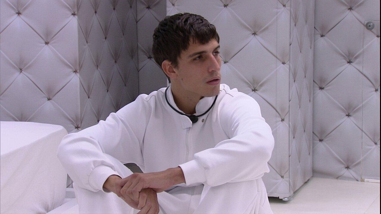 No Quarto Branco, Felipe avalia jogo: 'Tenho doze adversários. A casa inteira contra mim'