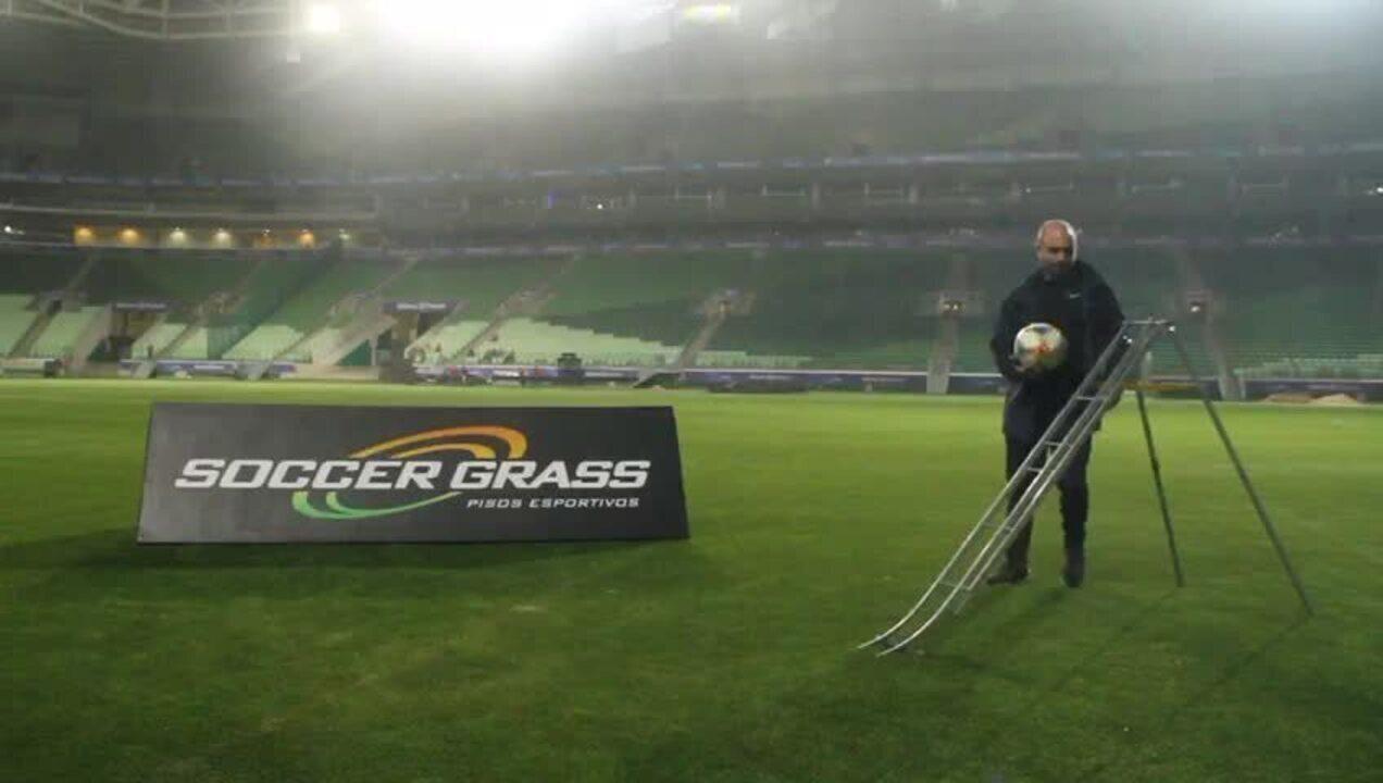 Testes da Fifa na arena do Palmeiras: rolamento da bola