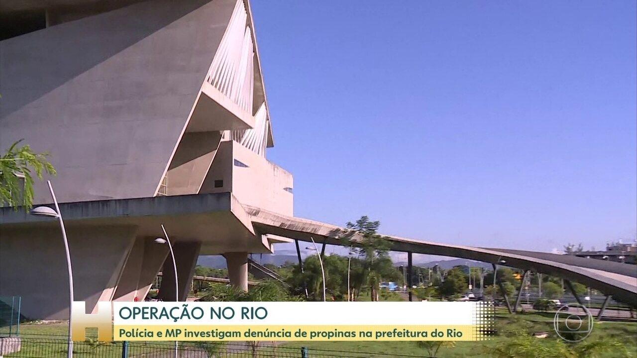 Polícia e MP cumprem mandados em investigação sobre propina na Prefeitura do Rio