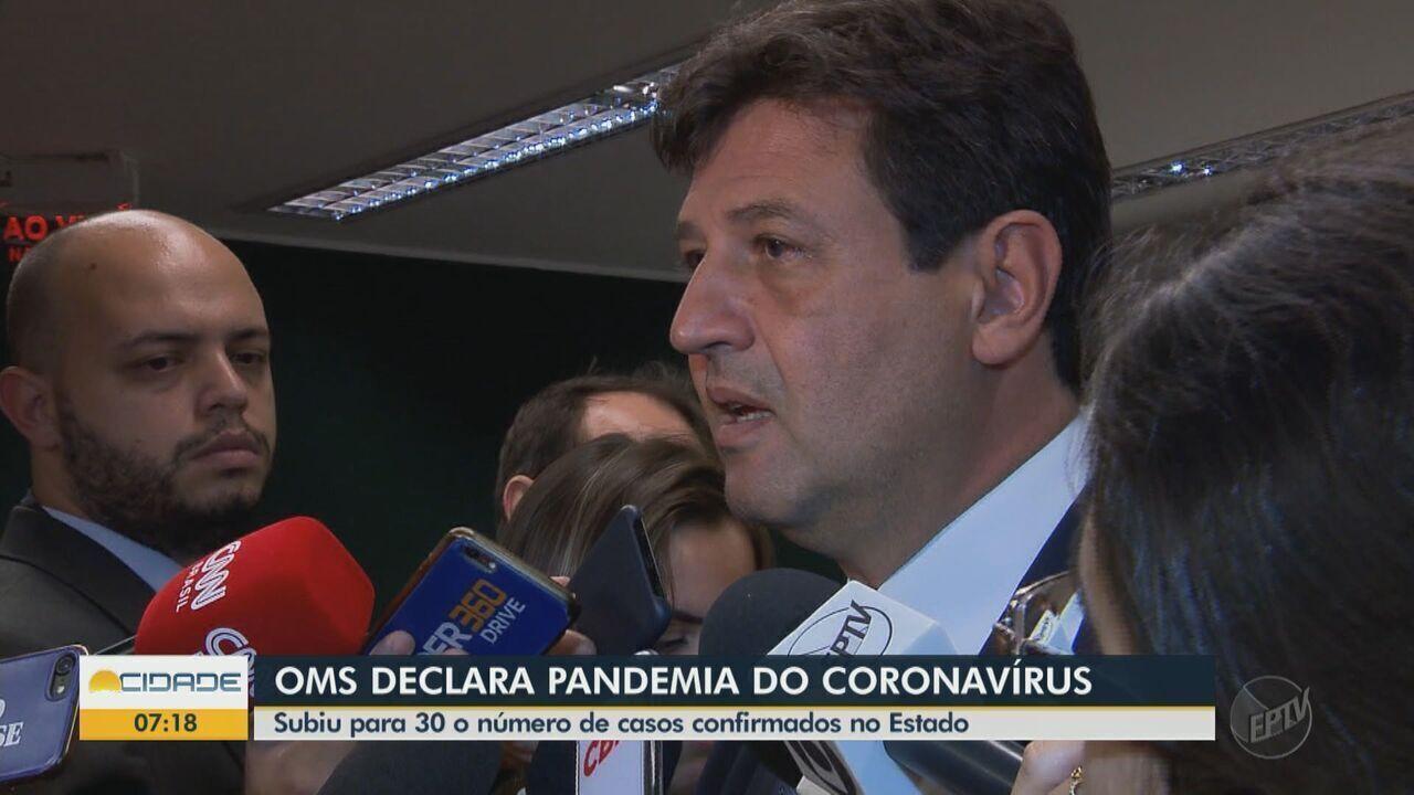 OMS declara pandemia do coronavírus no país