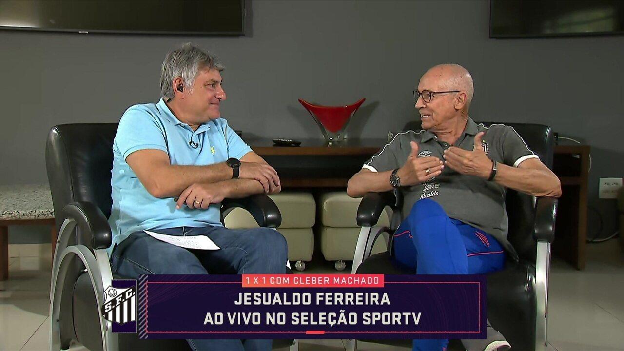 """Cléber Machado recebe o técnico do Santos, Jesualdo Ferreira, no """"1x1"""""""