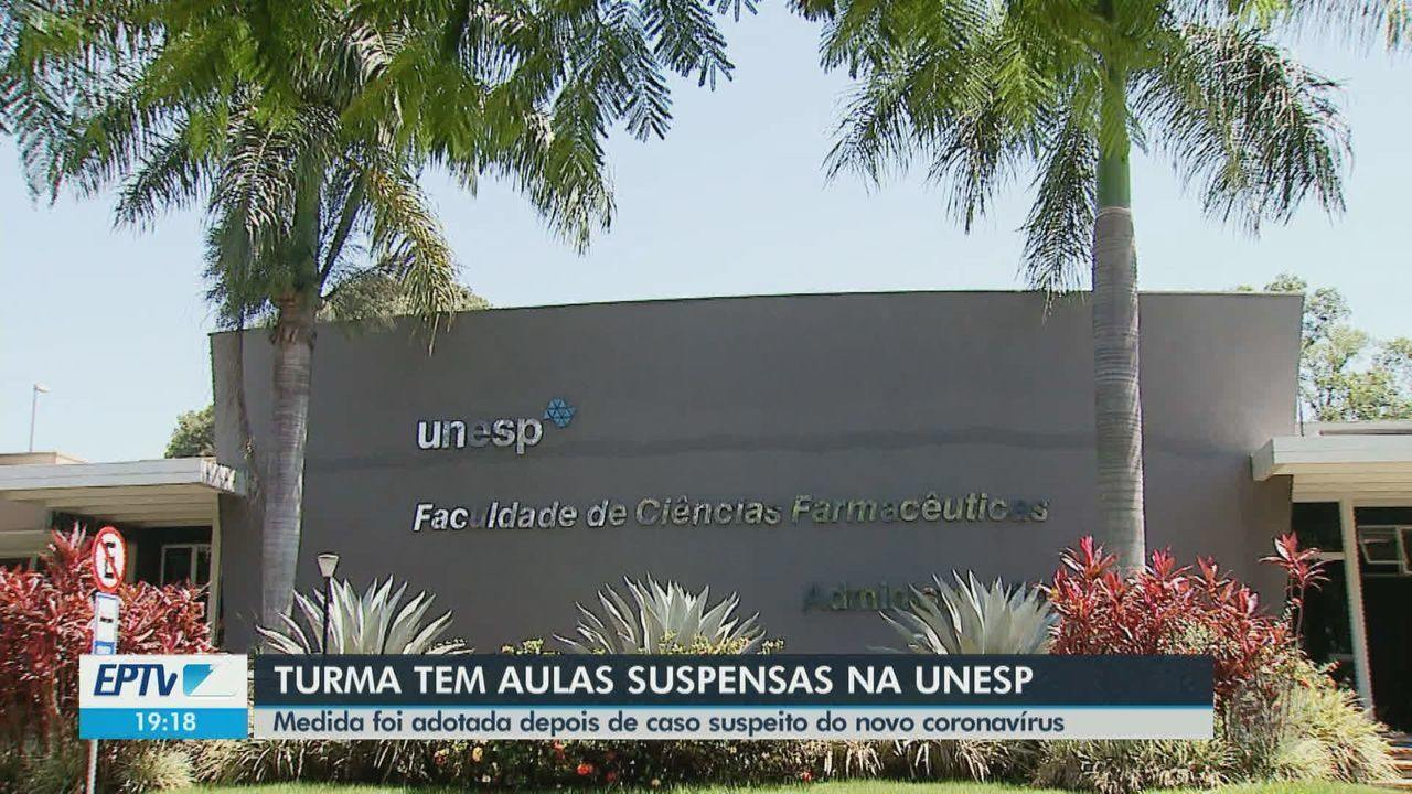 Unesp suspende aulas de turma em Araraquara após aluna ter suspeita de coronavírus