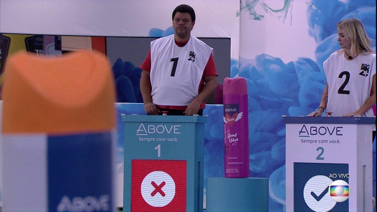 Babu é o primeiro eliminado da Prova do Líder Above