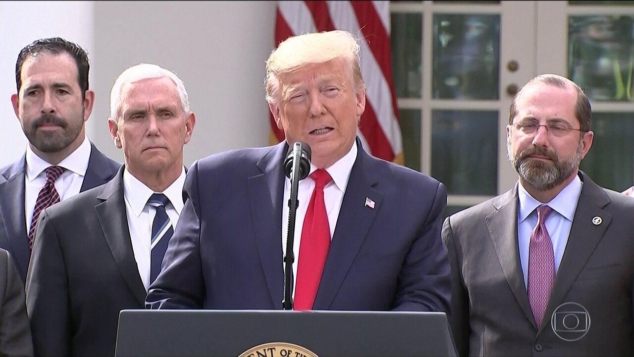 Trump declara emergência nacional nos EUA por causa da Covid-19