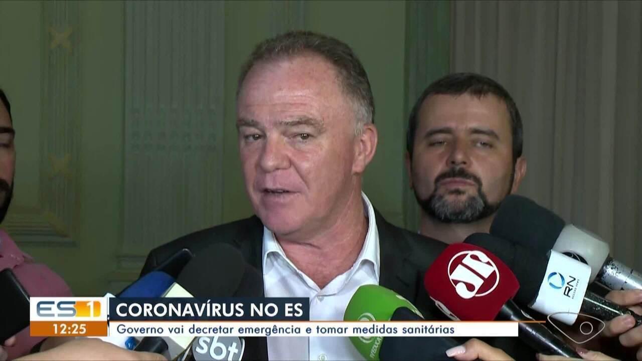 ES anuncia decreto de emergência e reserva leitos em hospitais para casos de coronavírus